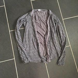 Splendid Striped Open Front Cardigan